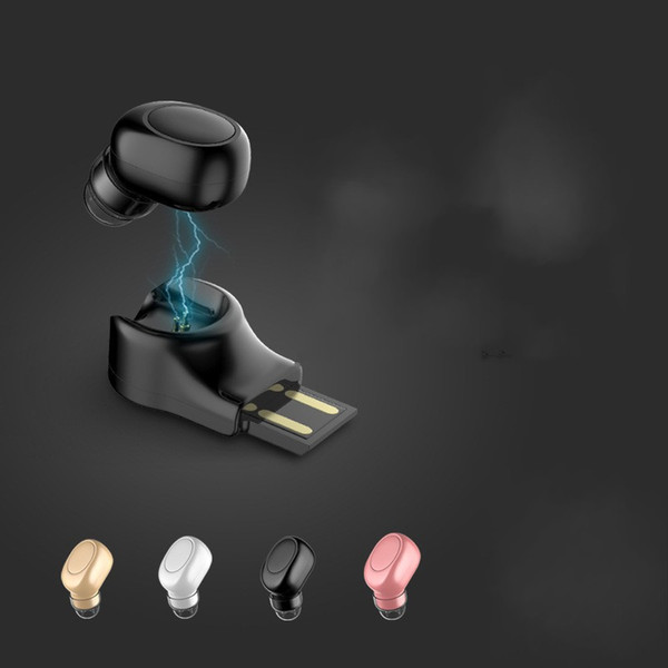 Car Wireless Bluetooth Headset Magnetic Attraction USB Charging Black White Rose Gold Wearing Comfort Simple Practical Mini Headsets 21zwD1