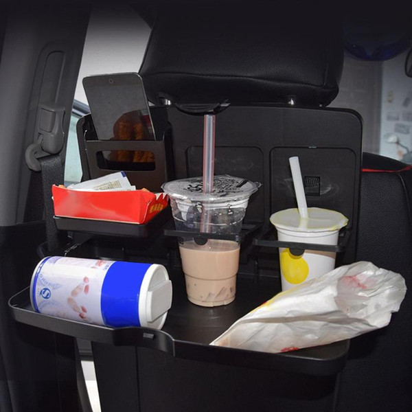 Universal Multifunction Car Seat Back Tray Folding Auto Dining Table Drink Water Cup Phone Mount Holder Car Pallet