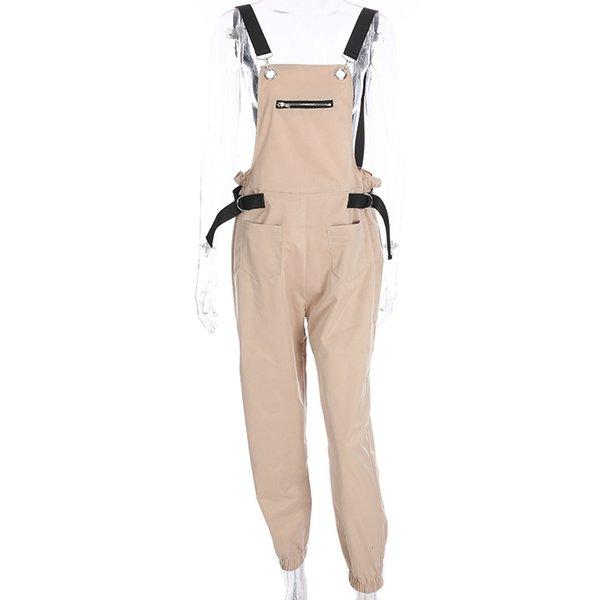 QUHS Womens Skinny Bandage Perspective Mesh Gradient Long Sleeve Jumpsuits