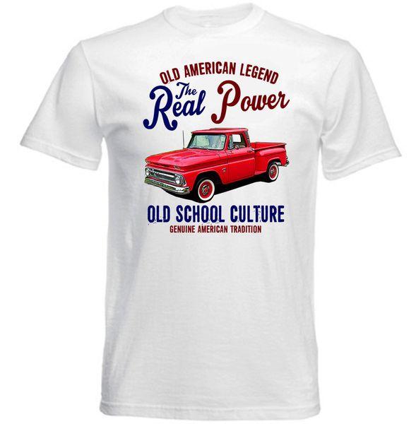 CHEVROLET VINTAGE AMERICAN PICK UP C10 - NOUVEAU T-SHIRT EN COTON T-shirt RETRO VINTAGE Classic