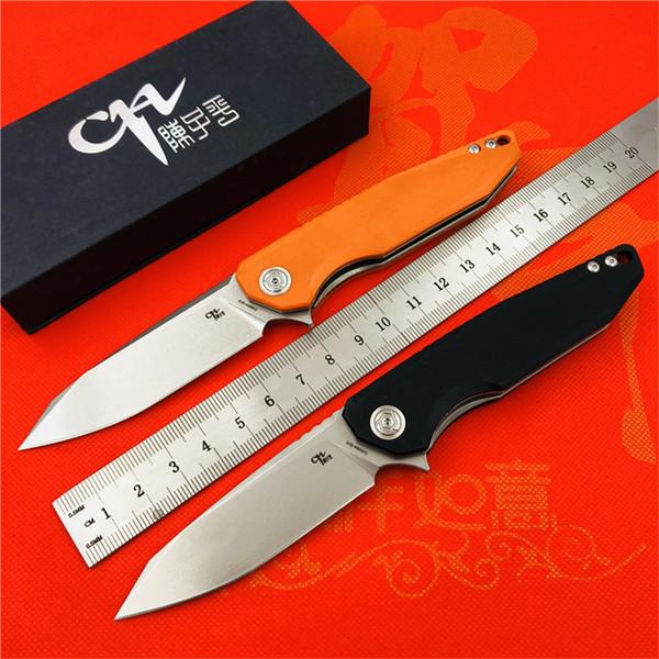 CH marka YENI 3004 D2 blade G10 + çelik kolu rulman çevirme katlanır bıçak açık kamp bıçak EDC taktik araçları