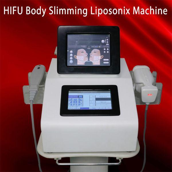 Liposonix HIFU 2 em um corpo de máquina da face lift que dá forma ao equipamento dobro da remoção de Chin Spa Ultra-som focalizado alta intensidade do emagrecimento do salão de beleza dos termas