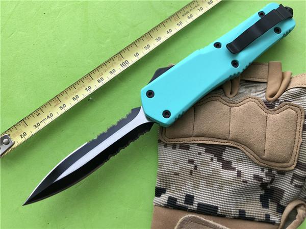 Neue Türkis Blau Taktische D / A Kampf Auto Outdoor Taschenmesser Große A07 EDC Werkzeuge Zink Aluminium Griff Taktische Jagd Geschenk Messer P399R