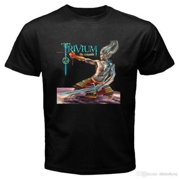New Trivium *The Crusade Metal Rock Band Mens Black T-Shirt Size S To 3Xl T Shits Printing Short Sleeve Casual O-Neck Cotton