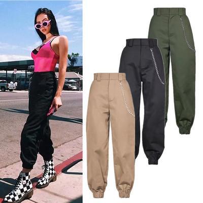 9697bde594a50 2019 new fashion fashion woman camo pants women cargo high waist pants  loose trousers joggers women camouflage sweatpants streetwear