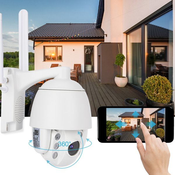 1080P WiFi Night Vision Dome Outdoor Waterproof Security Surveilance Camera System Remote Home Monitoring with Phone Control