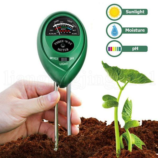 Medidor de Umidade do solo 3 em 1 Jardim de Flores de Plantas PH Tester Medidor de Luz Medidor de Ferramentas de Teste de Jardim Fontes 300 pcs OOA6728
