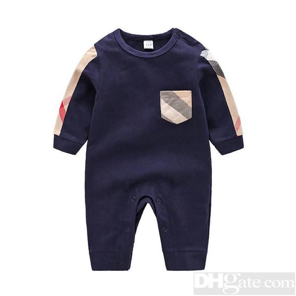 2019 Rundhals Baumwolle Uniform Kleidung Neugeborenes Babyspielanzug Junge Mädchen Kleidung Langarm Infant Produkt Frühling Autumn-5