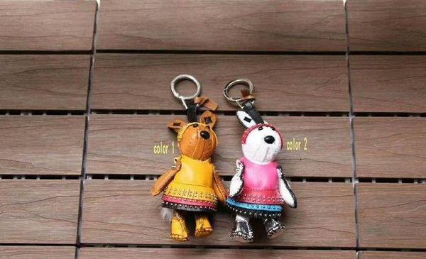 Lapin lionceaux porte-clé designer de mode sac à main bandoulière chaîne pendentif créatif chien chien sac à dos lapin pendentif