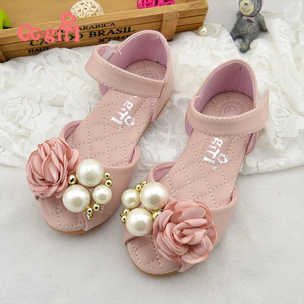 Genuine Leather Children Girls Shoes Summer Girls Sandals Leather Princess Shoes For Kids Sandals Girls Leather Shoes 330-48 Y19051303