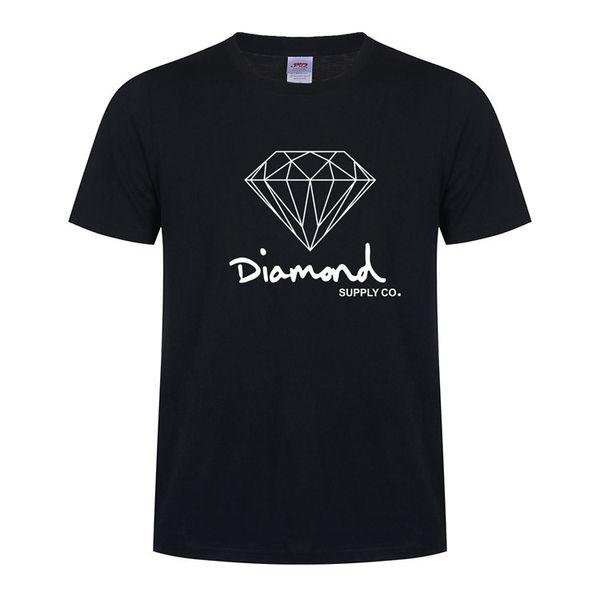 Mens designer t shirts harajuku blue Diamond SUPPLY CO.t shirt short-sleeve male cotton tops tee casual skate brand hip hop sport clothes