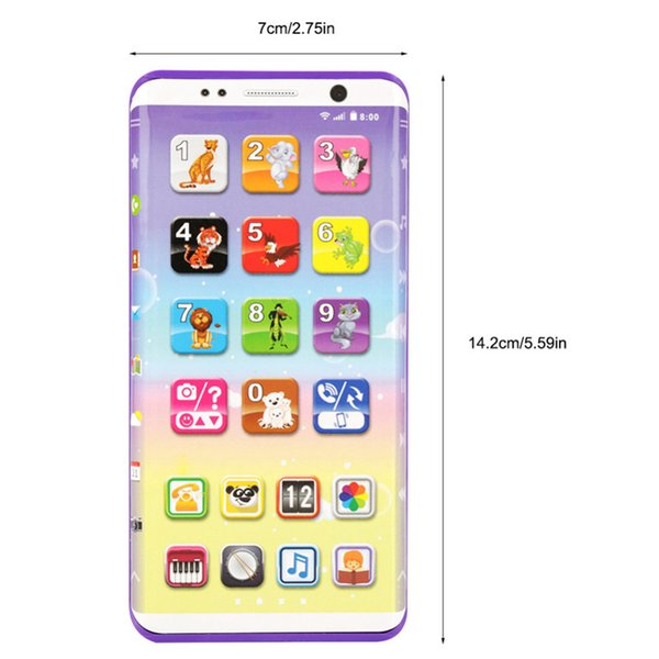 Educational Smart Phone Toys with USB Port Touch Screen Kids Phone Toys English Learning Educational Toys