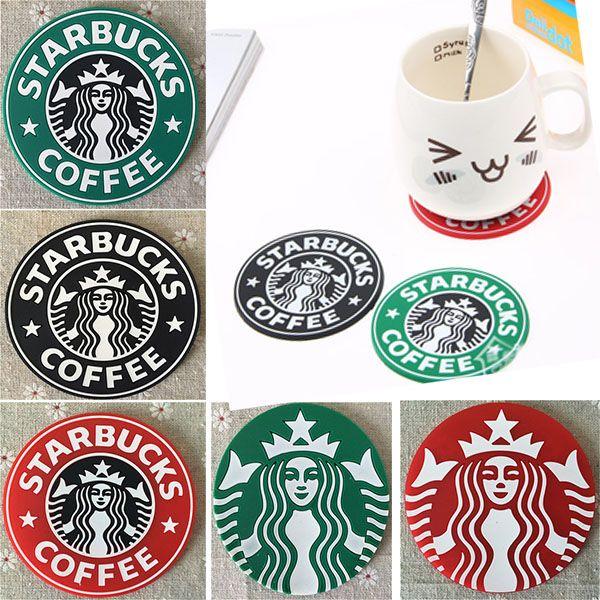 Cup Mats Pads Decoration Starbucks Mermaid Silicone PVC Coaster Round Platemat Mug Coffee Milk Cup Insulation mat Pads HH-M01