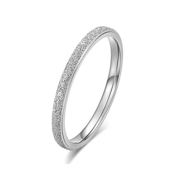 white silver ring