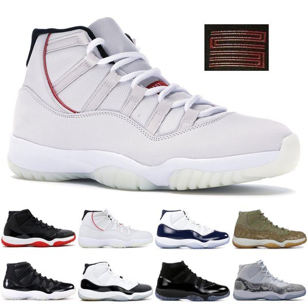Chaussures de basket Jumpman Snakeskin Concord haut jordan 45 11 XI 11s Platinum Gym Héritière Chicago Tint Espace Confitures Sport Chaussures Hommes Femmes 5-13