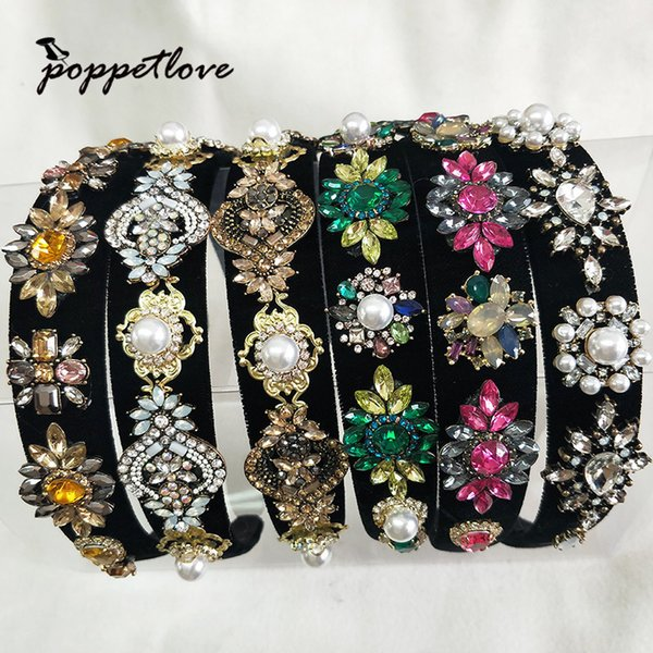 Fashion Cute Women Girls Crystal Tiara Hairbands For Party Headdress Beautiful Hair Tiara Crowns Decorations C19022201