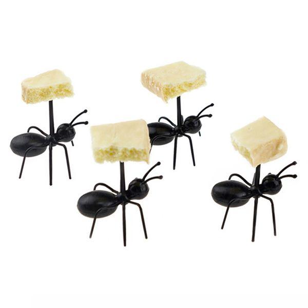 Ant Shape Fruit Pick Fruit Fork Plastic Snack Cake Dessert Tableware Party Dinner Pick Toothpick Kitchen accessories