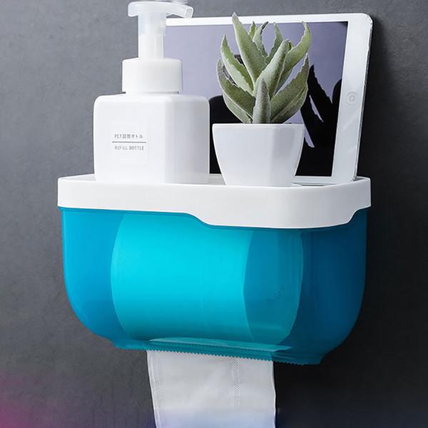 Dispenser di tovaglioli a doppio strato per scatola di carta igienica per bagno in plastica