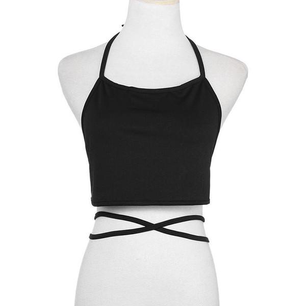 Sexy Halter Neck Solid Women Crop Tops Strap Short Tube Top Vest Summer 2019 Women Tank Top Wine Red Sweet Girls Camis