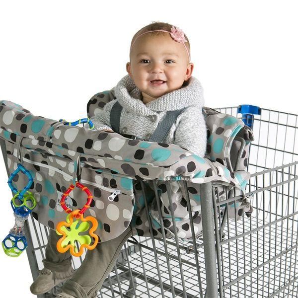 Grocery Shopping Cart Baby Seat Cover - Restaurant High Chair Insert Cushion Holder for Boys, Girls, Infants, Toddler