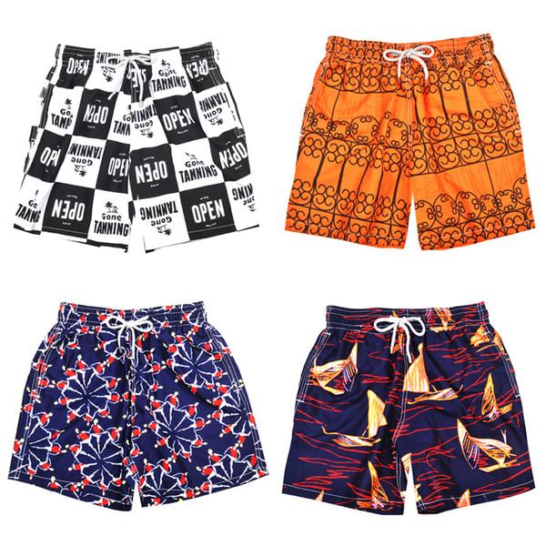 4 model Vile Brand Turtle Printed Men's Beach Board Shorts Bermuda Mens Swimwear Board shorts Quick Dry Sports Boxer Trunks Shorts Swimsuits