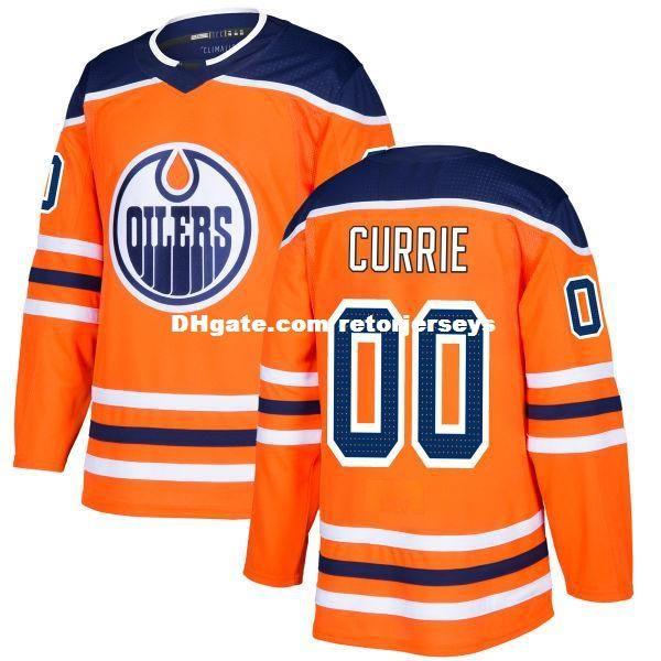 2018 Nuovo marchio Adulti Edmonton Oilers Josh Currie Kirill Maksimov Kyle Platzer Ostap Safin cucita arancione maglie di hockey su ghiaccio Accetta personalizzato
