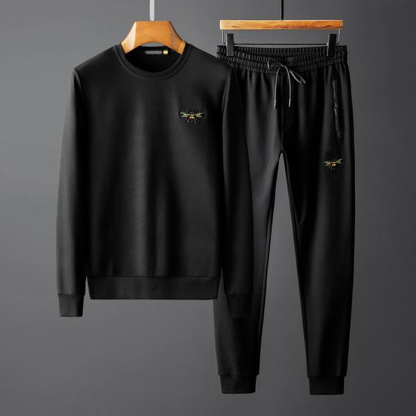 High Fashion Mens Designer Tracksuits Brand Bee with Crown Sweatshirt + Pant Spring Autumn Long Sleeve Sets Luxury Plus Size M-4XL B100215V