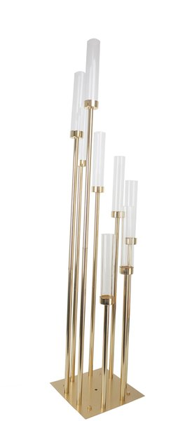 Wedding table candelabra 8 pieces stands high end gold finish luxury wedding