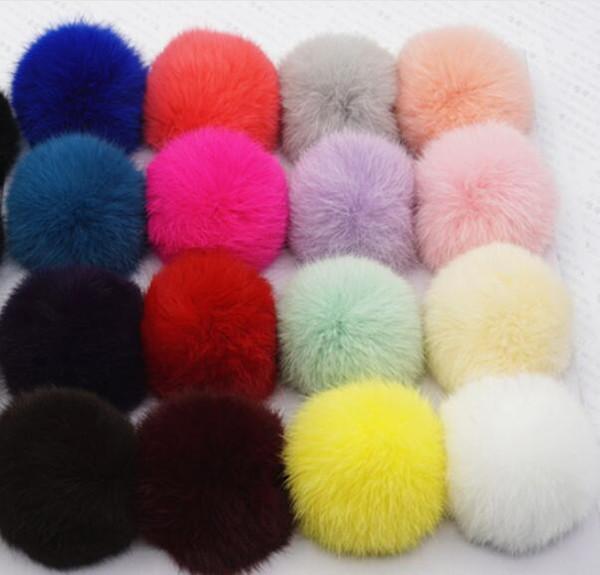50pcs 6cm Faux Fur pompon ball fluffy imitation RABBIT fur pompom Soft Pom Poms for DIY bobbles hair bows hoop Accessories GR152