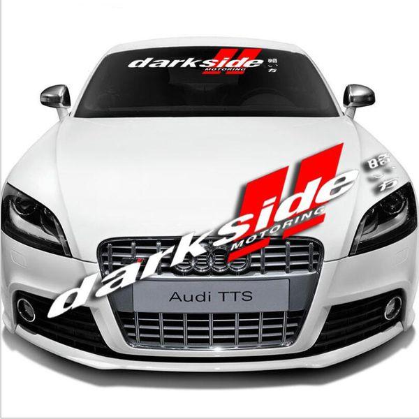Auto Car Front Rear Windshield Window Banner Vinyl Emblem Decal Reflective for Darkside Sticker
