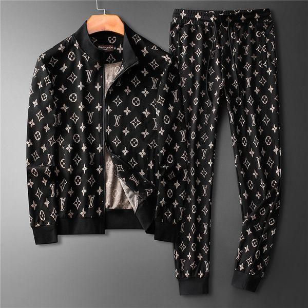 Primavera Outono Fatos Para Mens Casacos TopsPants Suits Moda Cardigan Men Moletons Zipped Mens Clothing szfa sefgwe