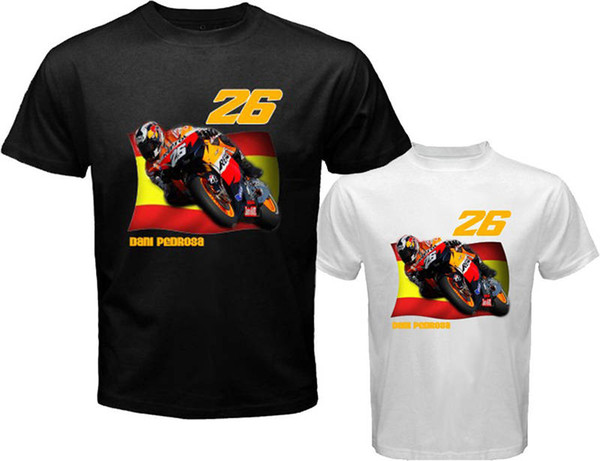 Mode Lässig Hohe Qualität Druckt-shirt Grafik Kurzhülse T-shirts Daniel Pedrosa 26 Für Männer