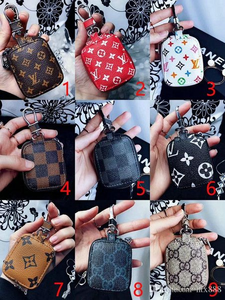 Latest Design Leather Protective Cover Carrying Case Earphone Bling cases for For Apple AirPods