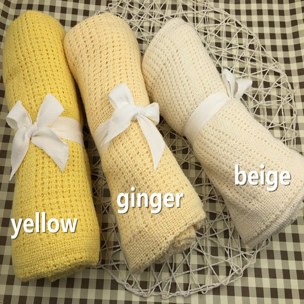 100% Cotton blanket knitted for baby swaddle sleeping bag baby blanket fleece swaddle blankets muslin bamboo