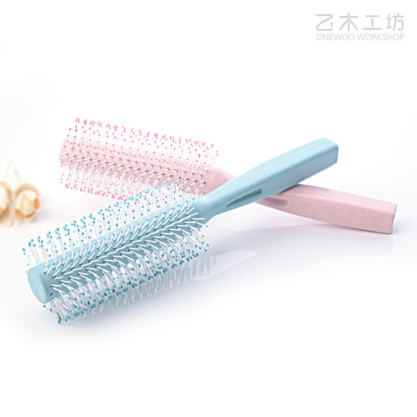 Tamax CB003 2018 New 1PCS Round Portable Curly Hair Comb Anti-static Round Brush Handle Hair Styling Comb Hairdress For Women and Man