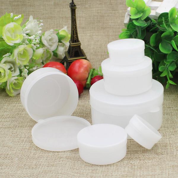 Boîte en plastique 50pcs 100g Mini pots de pots de crème à échantillon Boîte de pommade Boîtes vides