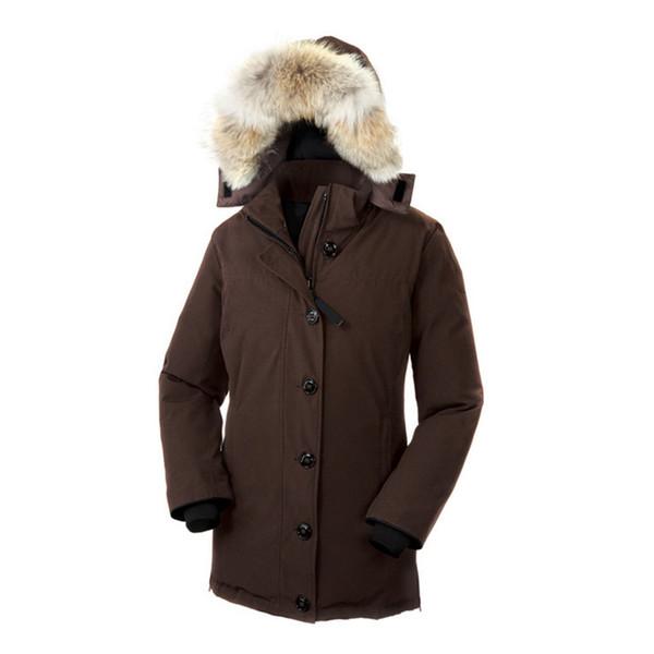 2020 Wolf Fur Women Winter Jacket Windbreaker Women's Designer Goose Down Jackets Long Parka Womens Coats Warm Doudoune Femme Homme E20