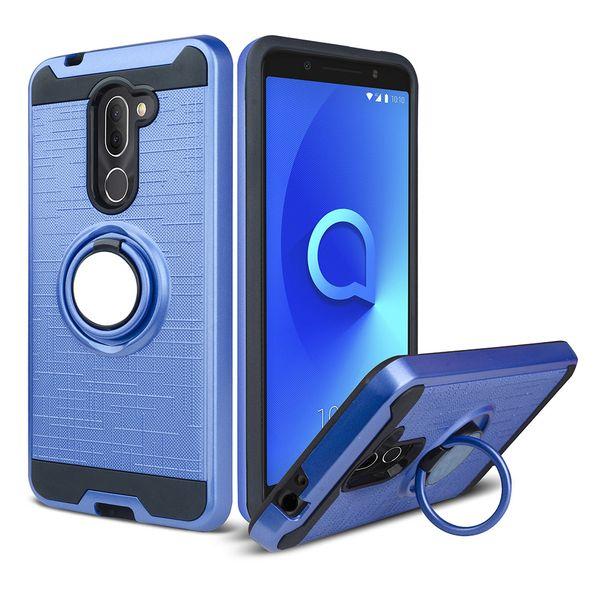 For LG Aristo 3 Tribute Empire Samsung Glaxy J2 Core J260 J2 2019 Hybrid Armor Case 360 Degree Rotating Car Phone Holder Magnetic Cover