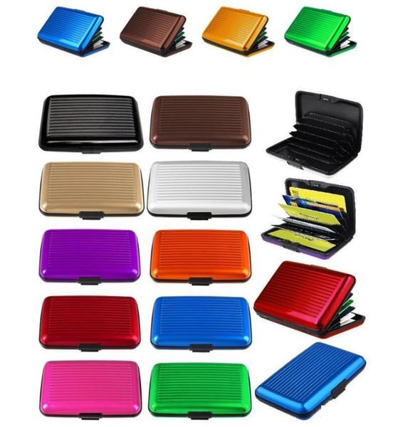 Aluminum ID Credit Card Wallet Holder Antimagnetic Waterproof Aluminum Cards Holder Pocket Wallet Holder Pocket Case 400pcs