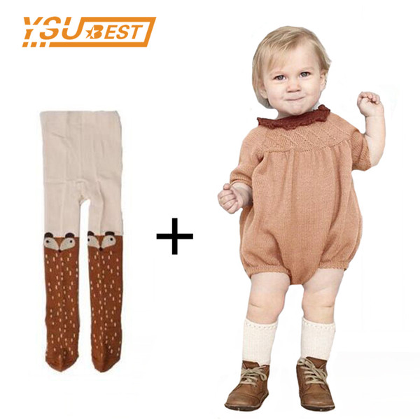 Autumn Long Sleeve Girl Romper Dress 0-5yrs Knitted Baby Rompers Cotton Children Clothes Toddlers Jumpsuits Q190518