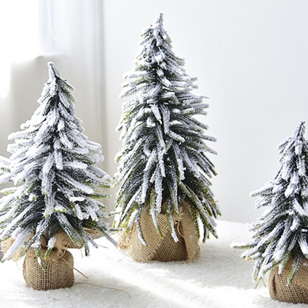 New Christmas Decorations Snow Flocking Christmas Trees Snowflakes Twigs Mulberry Trees Window Display Scene