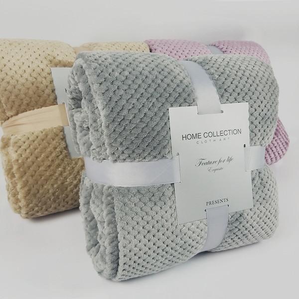 Letto di molle eccellente Blanket flanella Aircraft divano-letto Ufficio bambini coperta del tovagliolo di viaggio in pile Mesh portatile copertura della coperta Viaggiare
