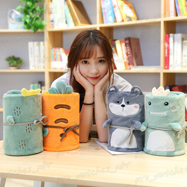 top popular Hot Sales Cartoon Blanket Coral Fleece Roll Blanket Children Kids Blankets Flannel Storage Gift Blankets H024 2019