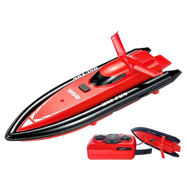 Barco de control remoto Lancha rápida 2.4 Ghz Mini Control remoto Barco de remo Motor de juguete Niños Juguete eléctrico Modelo Co