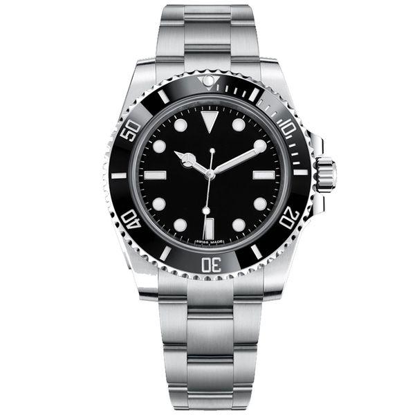 Relojes de lujo para hombre Automático 116610 Relojes negros Cierre deslizante Cierre Cerámica Bisel Crono Fecha Acero inoxidable Orologio Di Lusso