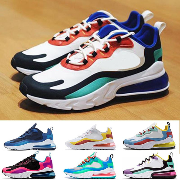 Top Qualiity Cushion React Running Shoes Bauhaus Blue Right Violet Beige Hyper Jade Electro Green Mens Women Trainers Designer Sneakers