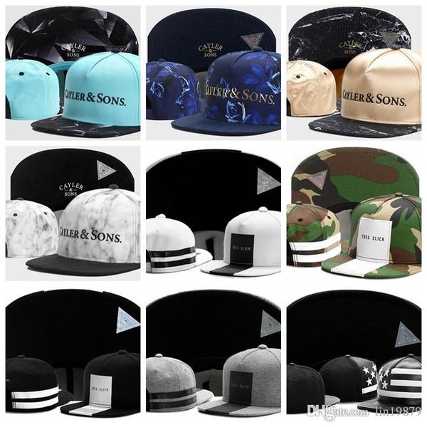 Новые прибытия бейсболки Cayler Sons TRES SLICK камуфляж кожа сша флаг шерсть металл марка мужчины женщины хип-хоп кепка сваг горрас шляпы Snapback кости