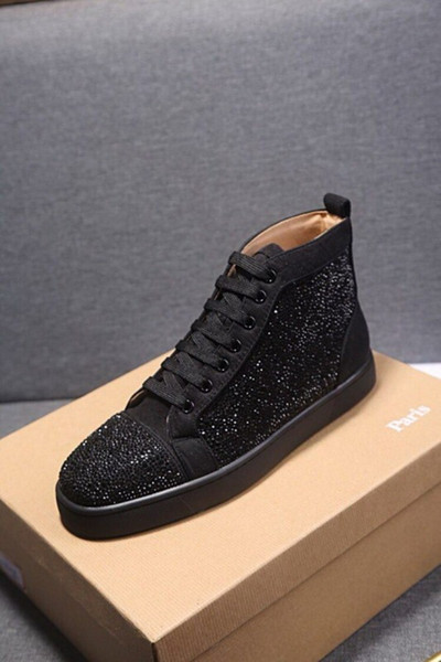 top popular Designers Mens Women shoes white black shoes bottoms red Sneakers real leather comfortable luxurys size US 5 TO US 13 Trainers 2021