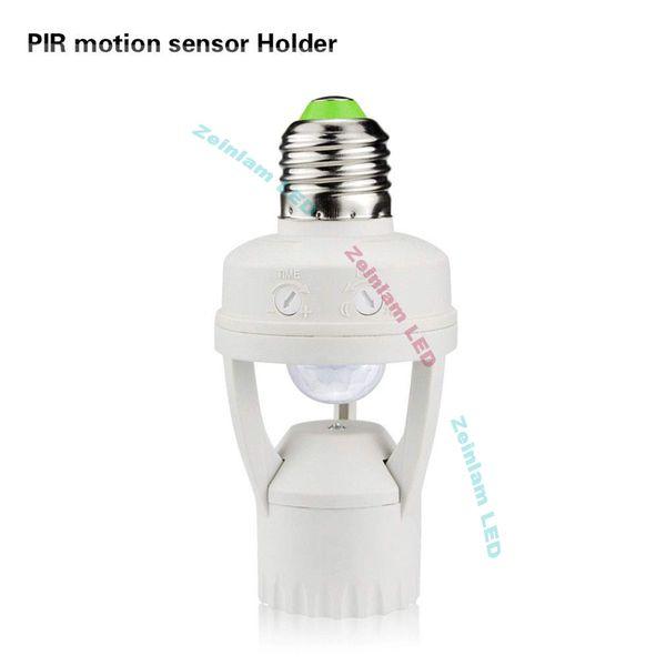 Portalampada con sensore di movimento PIR per lampadine a LED MAX 60W Portalampada a induzione PIR con attacco E27