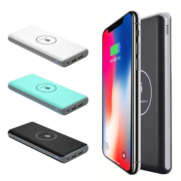 Wireless Fast Charging 30000mAh Power Bank External Battery Charger Pack Mobile Phones Powerbank For Xiaomi MI iPhone X Note 8